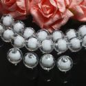 Beads, Beads-in-beads, Acrylic, Colourless, Faceted spherical, Diameter 12mm, 16g, 20 Beads, (SLZ0533)
